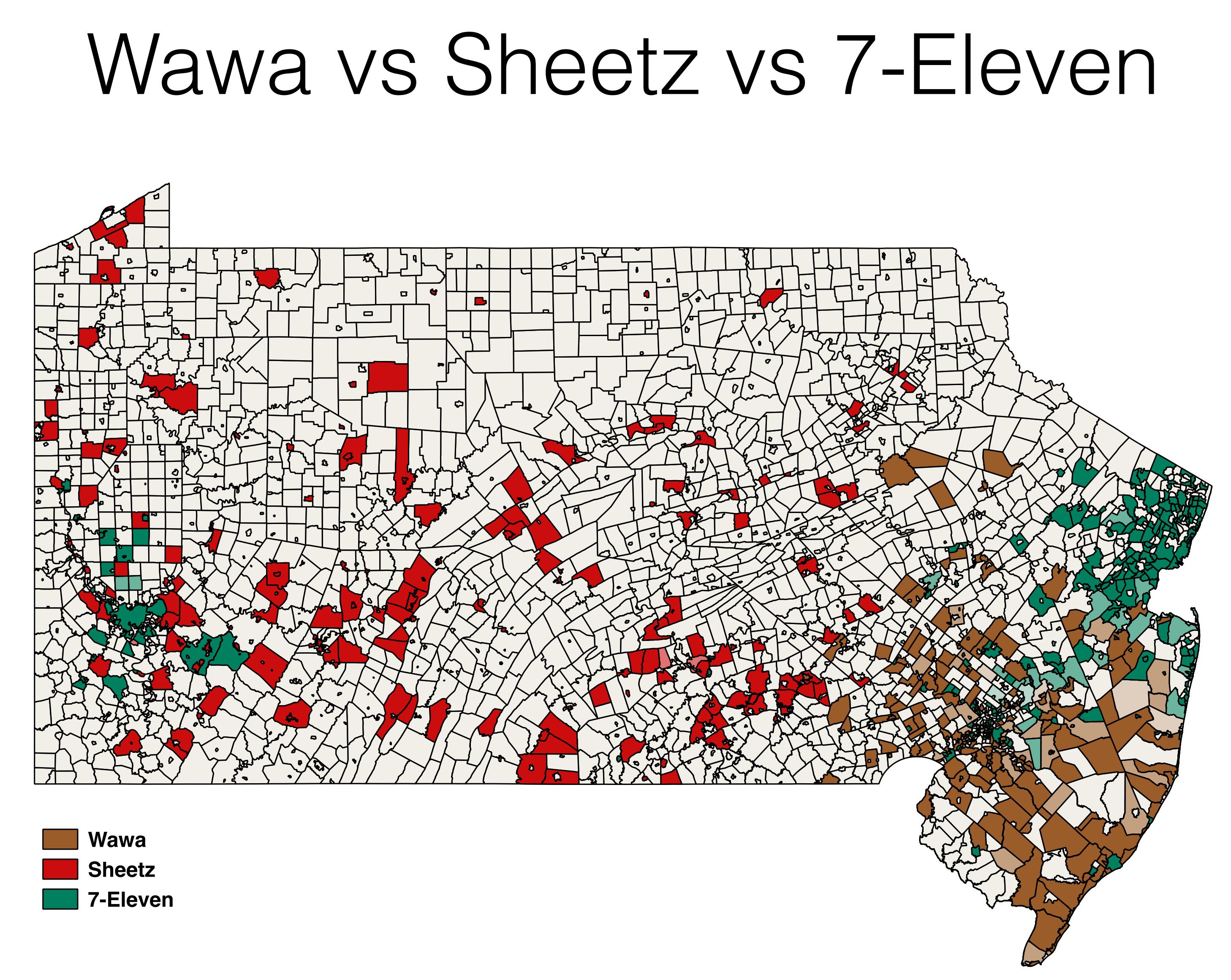 Wawa Sheetz 7-Eleven